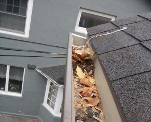 Clogged Gutters Home Inspection